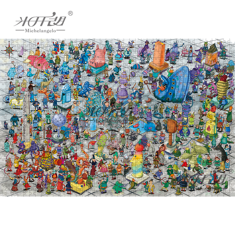 2000 peça monstros plaza dos desenhos animados