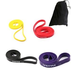 "Image 2 - 41 ""faixas de resistência 208cm aptidão borracha puxar para cima crossfit potência látex expansor pendurado yoga loop banda"