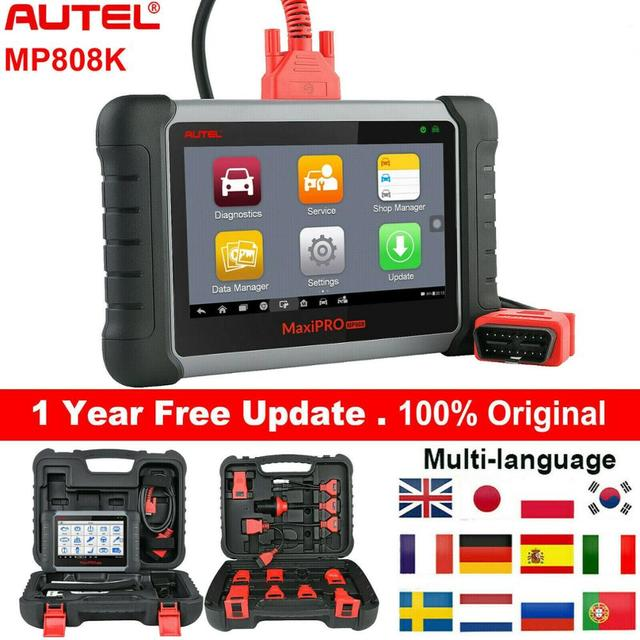 Autel MaxiPRO MP808K Automotive Diagnostic Scan Tool with Key Fob Programming, Active Tests, OE Level All Systems Diagnosis,