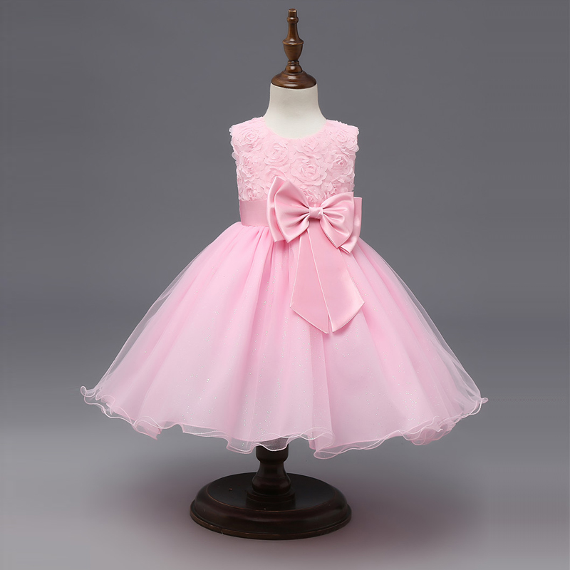 Floral Tutu Dress For Girls Dresses Kids Clothes Wedding Events Flower Girl Dress Birthday Party Costumes Children Clothing 8T 2