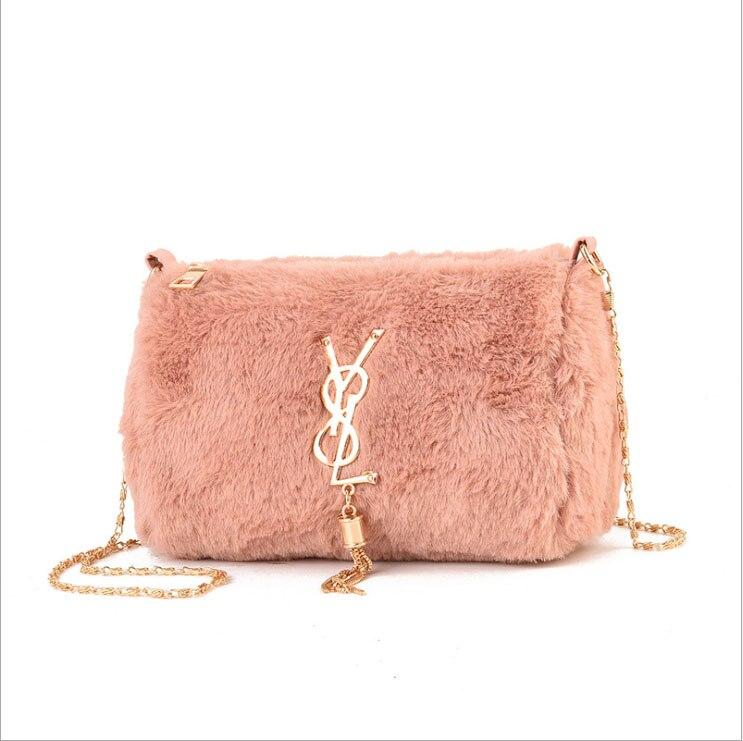 Bags For Women 2019 New Chain Fur Bag Handbags Women Trend Wild Shoulder Bag Female Handbags Korean Version Of The Plush Bag