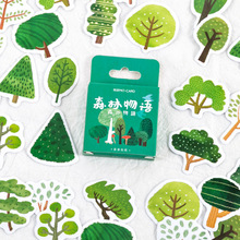 Mohamm 45Pcs Forest Story Series Stickers Decoration Scrapbooking Paper Creative Stationary School Supplies