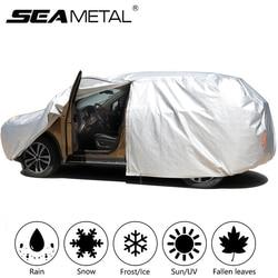 Cubiertas impermeables para coche, cubierta Anti-UV para la nieve del coche, sombrilla a prueba de polvo para las cuatro estaciones, cubierta para la nieve, Protector de tira reflectante automático