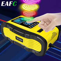 LiFePO4-cargador de batería para coche y motocicleta, dispositivo de carga rápida 12A, 12V, 24V, reparación de pulso, AGM, GEL profundo EFB, plomo-ácido