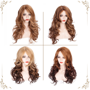 Image 5 - AISI HAIR Long Wavy Synthetic Wig Light Brown Mixed Blonde Wigs for Black Women Side Part Natural Wig Heat Resistant Hair