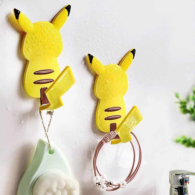 New Cute Pikachu Tail Refrigerator Magnetic Sticker Multi-Function Hook Wall Door Mounted Decoration Ornament Dropshipping