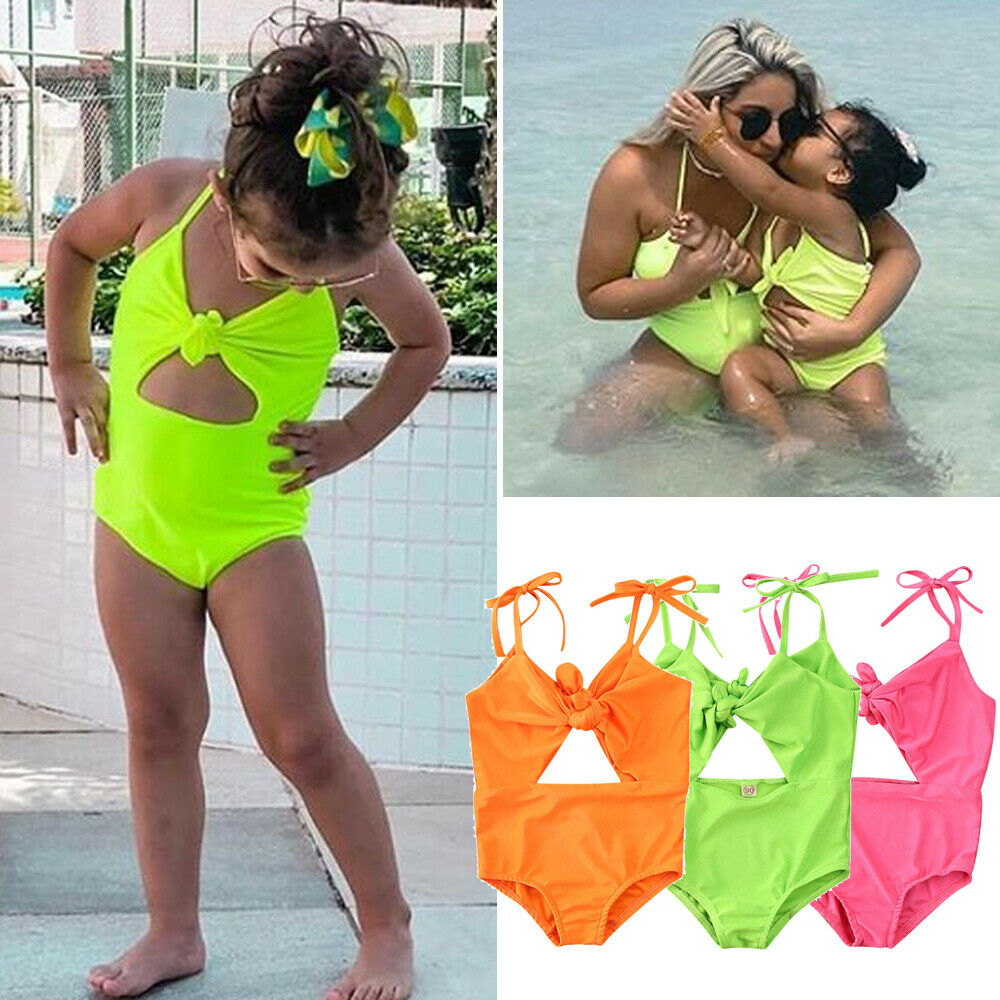 Fashion Kids Baby Girls Swimsuit Toddler Bikini Bow Swimwear Beach Bathing Suit Summer Holiday Swimming Clothes Beachwear 1-5T