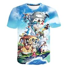 Baby Clothing children t shirts Cartoon totoro ponyo 3D Print Kids Top Baby Boy Girl Tops Short Sleeve T-Shirt Summer Tee
