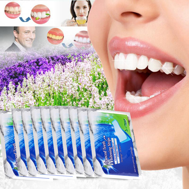Professional Teeth Whitening Strip Advanced Teeth Stripes Bleaching Whiter Whitestrips Stripes Oral Tooth Care Whitening