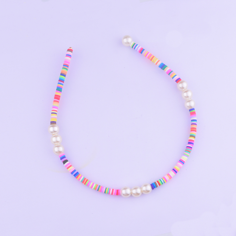 Hair-Headband African Pearl Bohemian Women Glass Lucite Beads Recycled-Disc Surfers Polymeres