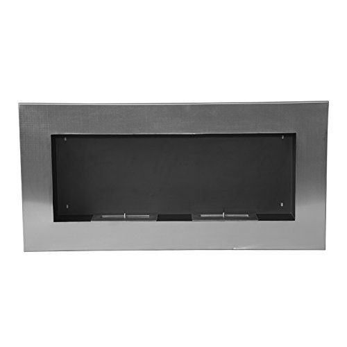 HOMCOM Bioethanol Fireplace Made From Stainless Steel With 2 Burners 1.5LT 110x54x14 Cm