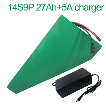 5A charger 52V 27Ah 14S9P 18650 Li-ion Battery electric two Three wheeled motorcycle bicycle 330*310*200*70*70*45mm