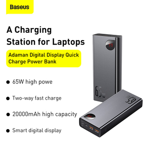 Image 2 - Baseus PD 65W Power Bank 20000mAh QC4.0 Portable Charging External Battery Charger PowerBank For iPhone Xiaomi Macbook PoverBank