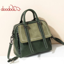 2020 DOODOO Brand Bags For Women, Women Shoulder Bags, Artificial Leather Top Handle Bag, Design Element Fashion Bag