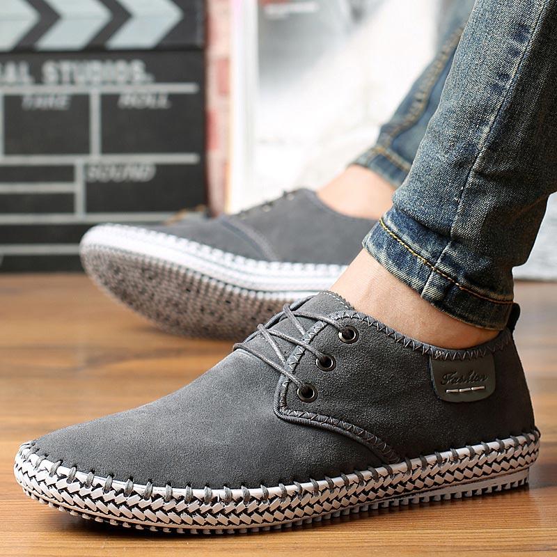 Мужская обувь размера плюс; коллекция 2019 года; сезон лето осень; кроссовки на платформе со шнуровкой; Мужская обувь; однотонная Повседневная