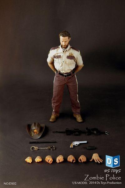 DSTOYS 1/6 soldat jouet modèle marche Zombie mort marche viande Zombie Police Rick 12 pouces figurine daction