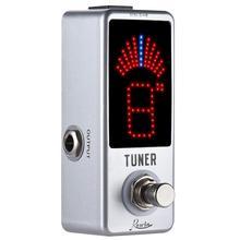 цена на RowinLT-910 Guitar Tuner PedalHigh Precision Guitar Chromatic Tuner Pedals For Electric Guitars
