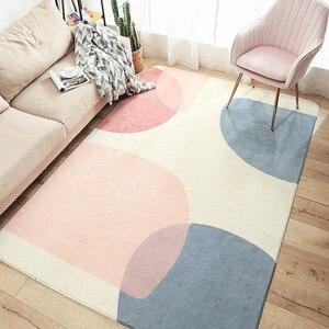 Простые ковры геометрической формы для гостиной, кабинета, напольный коврик, современный журнальный столик, диван, спальня, полный нескольз...
