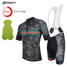 Darevie Cycling Suit Set Team Cycling Suits Pro Cycling Clothing Set Cycling Jersey YKK Zipper Cycling Bib shorts Italy Leg Band cheap 100 Polyester Polyester Spandex Nylon Lycra Short Sleeve Factory Direct Sales 80 Polyester and 20 Stretch Spandex DVJ081 DVP081
