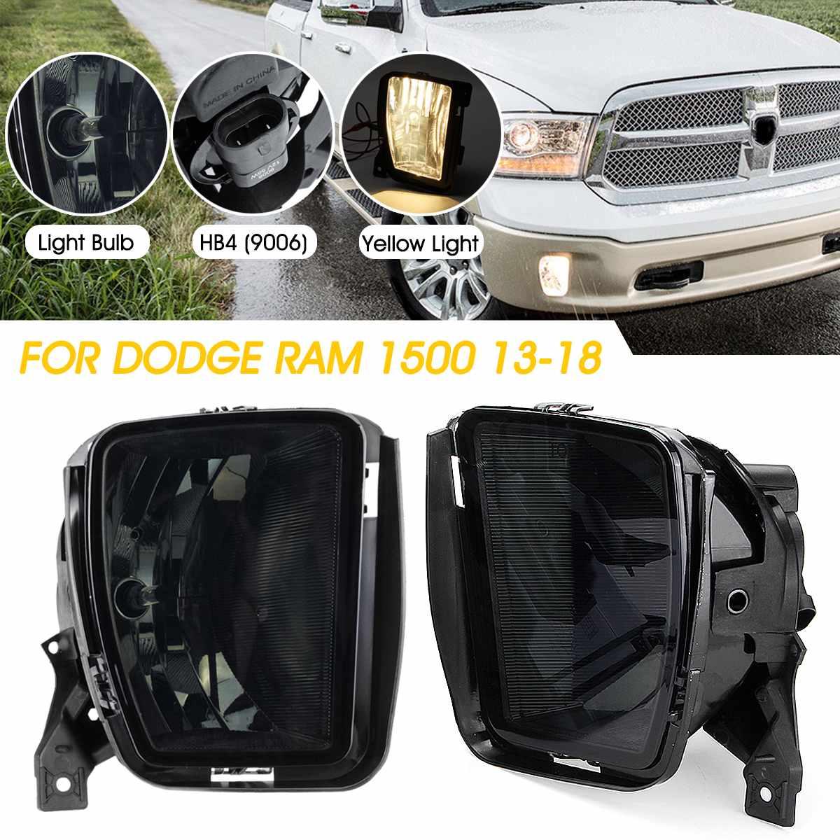 2PCS Car Front Bumper Fog Halogen Lights Fog Light With Bulbs For Dodge RAM 1500 2013 2014 2015 2016 2017 2018