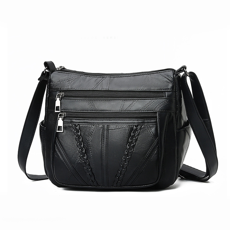 Fashion 2019 New Shoulder Bag Women's Leather Small Flap Designer Messenger Bags High Quality Totes Classic Woven Women Bags