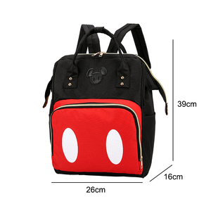 Image 5 - Mickey Minnie Women Backpack Casual Travel Bag for Teenagers School Bag Large Capacity Female Shoulders Bags Fashion BAG0006