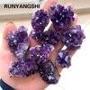 Natural Raw Amethyst Quartz Purple Crystal Cluster Healing Stones Specimen Home Decoration Crafts Decoration Ornament 1