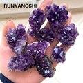 Натуральный необработанный аметист, кварцевый фиолетовый кристалл, кластерные исцеляющие камни, образец, домашнее украшение, декоративное...