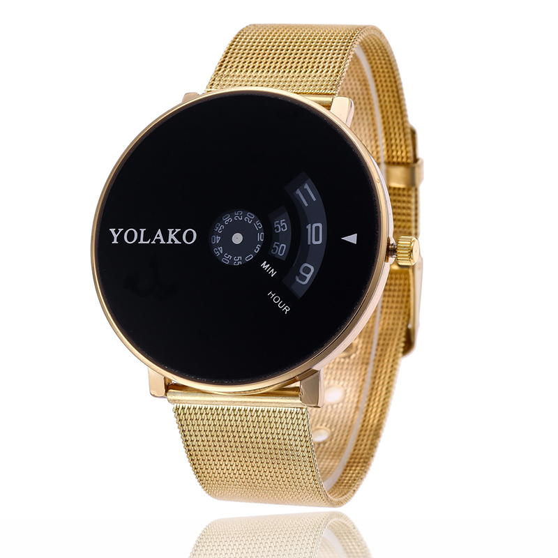 New Fashion Simple Unisex Gold Watches Alloy Ladies Watch Young Girl Watch Simple Clock Top Brand Mesh Band Quartz Wristwatches