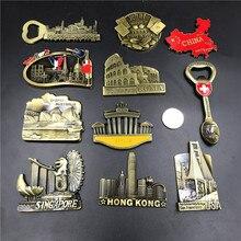 USA Golden Gate Bridge Berlin Schweiz Singapur Australien Sydney Italien Roma Paris Las Vegas China Karte Kühlschrank Magnet Souvenir