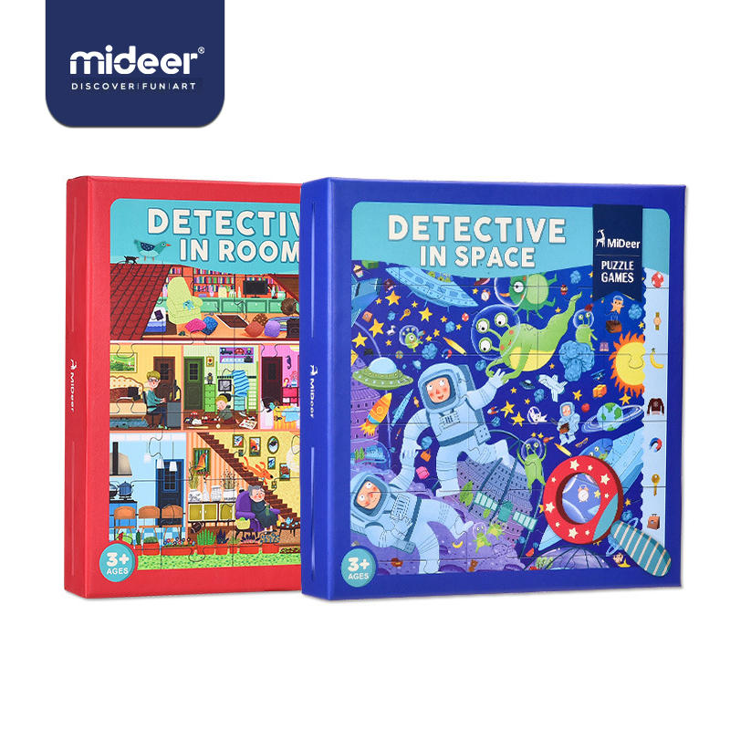 Mideer Baby Puzzle Games Cartoon Jigsaw Paper 3-6Years Explore Learning Bulk Funny Magnifier Observed Table Toys For Kids