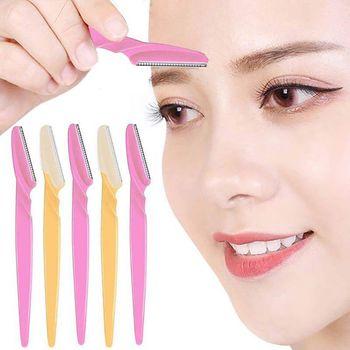3/10pcs Eyebrow Trimmer Portable Eyebrow Razor Shaver Eye Brow Shaper Shaping Tool Scissors Facial Hair Remover for Women Makeup 1