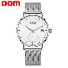 DOM Brand Men's Watch Luxury Business Men Watch Waterproof Unique Fashion Casual Quartz Male Dress Clock Watches relogio M-307(China)