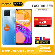 En existencia Versión global Realme 8 Pro Smartphone 8GB 128GB 6.4 '' Pantalla 108MP Ultra Quad Camera Snapdragon 720G 4500mAh 50W NFC €149-€20 Código promocional: 04ESOW20