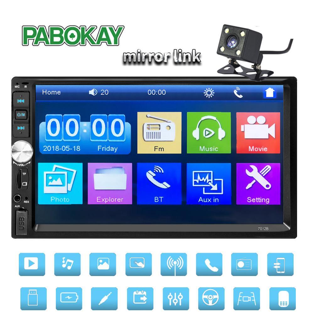 Автомагнитола for2 din с сенсорным экраном 7 дюймов, мультимедийный плеер с поддержкой MP5, Bluetooth, USB, TF, FM-камеры, типоразмер 2 din