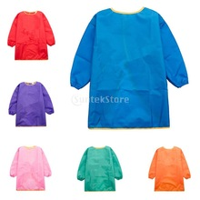Aprons Painting Smocks Long-Sleeve Artist Waterproof Kids Children with for 90-150cm-Height