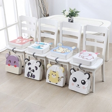 Portable PU Leather High Chair Pad Booster Dining Room Adjustable Detachable Sponge Seat Cushion for Toddler Kids Baby J60B