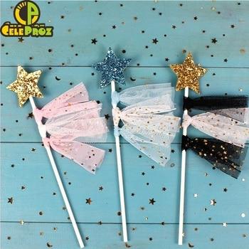 25Yards 6cm Star Tulle Confetti Glitter Mesh Baking Cake Topper Tutu Pom Bow Soft Squine Organza DIY Wedding Birthday Decoration 4