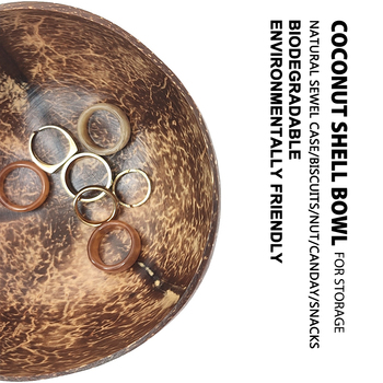 2/4PCS Natural Coconut Bowl Real Organic Coconut Shell Sealed with Coconut Oil Polished Coconut Serving Handcraft Cereal Bowls фото