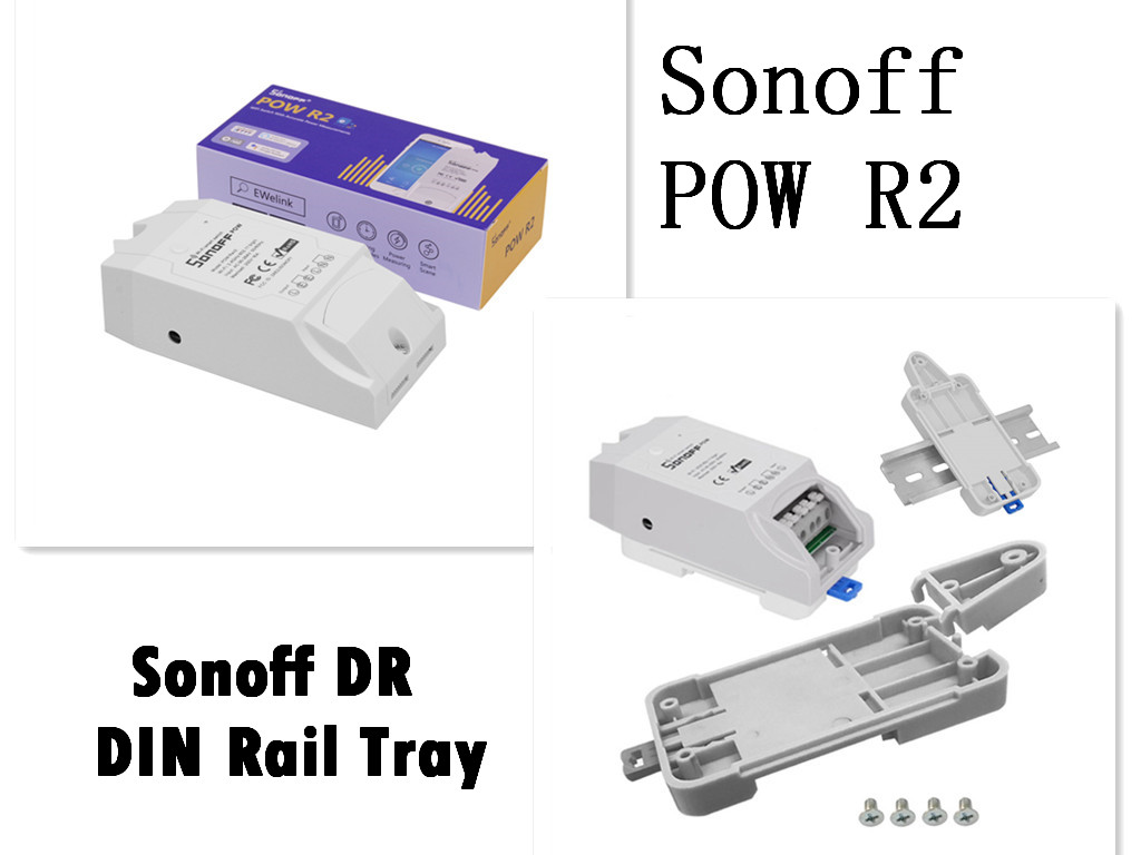 Sonoff Pow R2 16A WiFi Smart Swtich Timing IFTTT Remote Ctrl Sonoff DR Tray new