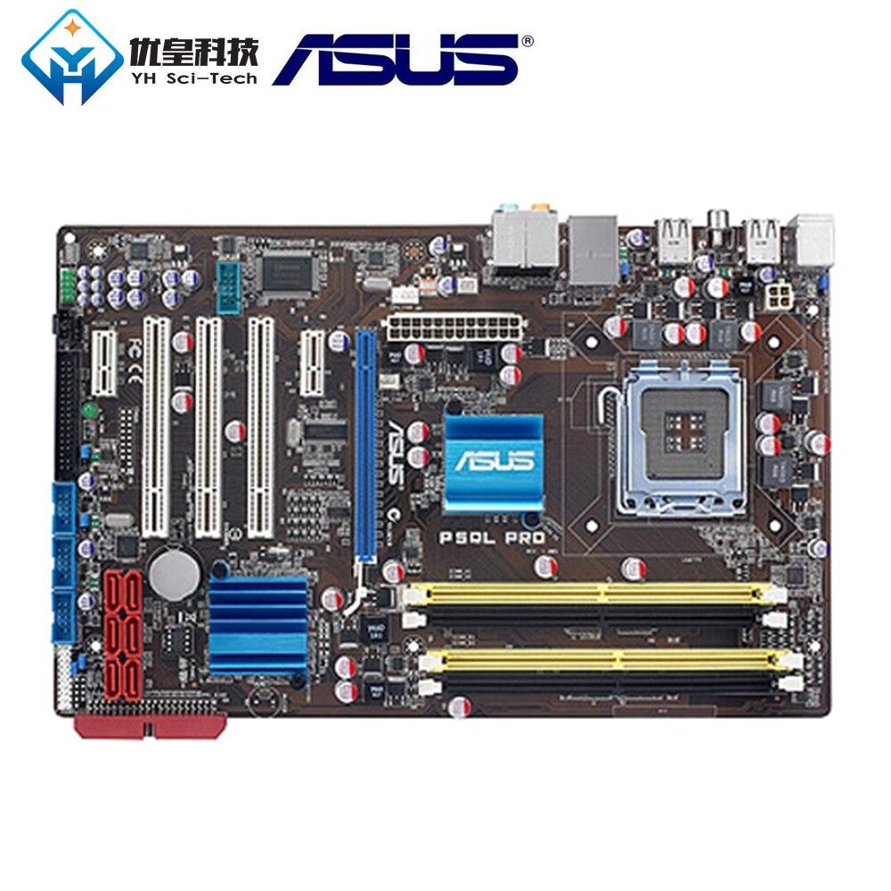 Original Used Desktop Motherboard Asus Intel P43 Asus P5QL PRO Socket LGA 775 Core 2 Extreme/Core 2 Quad DDR2 ATX