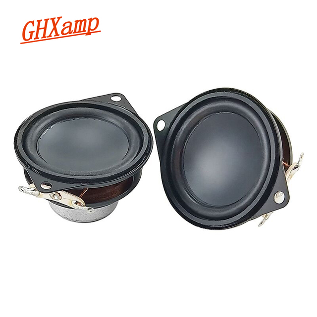 GHXAMP 1.5inch 40MM Neodymium Full Range Speaker Bluetooth speaker composite pot bottom rubber edge 8 ohm 3W 2PCS