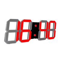 Multifunctional Remote Control LED Digital Wall Clock with Countdown Timer Temperature Date TB Sale