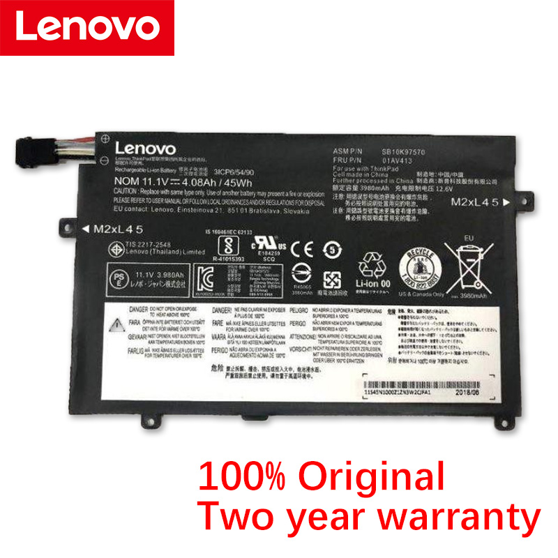 Lenovo Original E470 Laptop Battery For Lenovo ThinkPad E470 E470C E475 Series SB10K97568 SB10K97569 SB10K97570 01AV411 01AV412