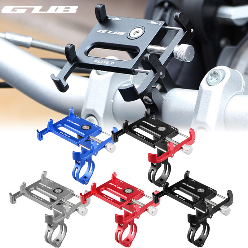 GUB 7 Colors <font><b>Bicycle</b></font> Phone <font><b>Holder</b></font> 360 Degree Rotation Aluminium MTB Bike <font><b>Smartphone</b></font> Stand Handlebar Mount Stand for iphone 6 7 8 image