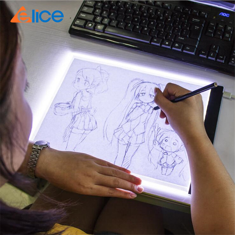 Elice A4 LED Light Pad for Diamond Painting, USB Powered Light Board Digital Graphics Tablet for Drawing Pad Art Painting board