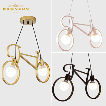 retro pendant lamp creative iron bicycle nordic light for living room restaurant bar industrial personality hanging lamps 1pc iron glass pendant lights retro living room restaurant corridor balcony garden personality pendant lamps za