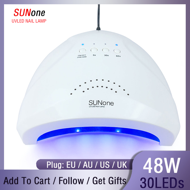 SUNone 48W UV Lamp Gel Nail Dryer LED White Light For Nails Machine Nail Curing Lamp For Gel Polish Nail Art Tools Free Shipping