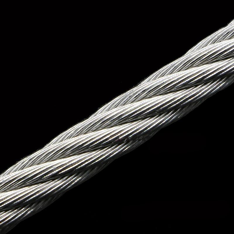5 метров 304 нержавеющая сталь 1 мм 1,2 мм 1,5 мм 2 мм диаметр стальной проволоки голый канат подъемный кабель линия одежды рустостойкий 7*7