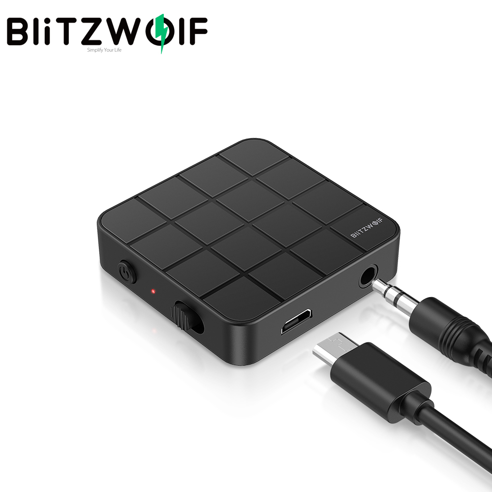 BlitzWolf BW-BL2 2 in 1 Wireless bluetooth5.0 Receiver Transmitter Mini Portable 3.5mm Aux bluetooth Adapter for PC TV Earphones